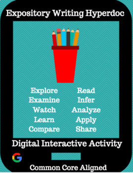 Expository and Informative Writing Hyperdoc / Digital Interactive Activity