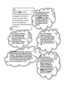 Expository and Persuasive Writing Prompts related to The Giver