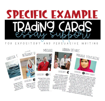 Expository and Persusive Writing Specific Example Trading Cards