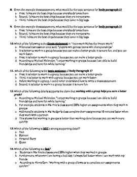 Expository essay test- hook, thesis statement, body paragraphs, conclusion