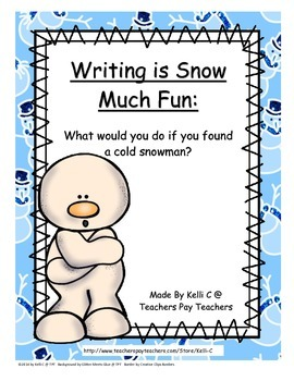 Finding A Cold Snowman- A Creative Writing Activity