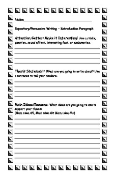 persuasive writing outline