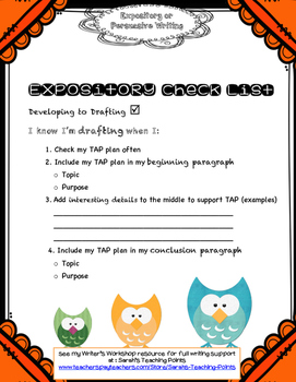 Owls Expository or Persuasive Writing Resource with Graphic Organizers