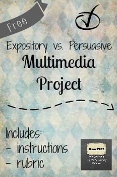 Expository versus Persuasive Multimedia Project