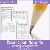 How-To Writing Rubric