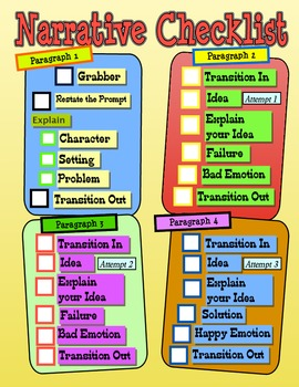 Expository/Narrative Checklist Combo