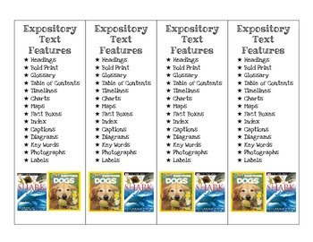 Expository/Non-fiction Texts Bookmarks