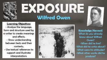 Exposure - Wilfred Owen - Bundle!