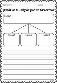 Expresamos nuestra opinión y persuadimos /Opinion writing templates 50 templates
