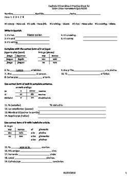 Expresate 1 Capítulo 3 Gramática 2 Practica para el examen