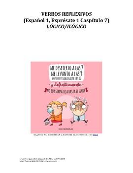 Exprésate 1 Capítulo 7 Reflexive Verb Practice (Spanish 1)
