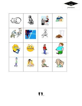 Exprésate 1 Ch 5 vocabulary bingo