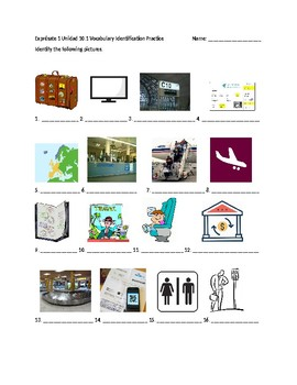 Exprésate 1 Chapter 10 Vocabulary 1 Identification Practice/Quiz