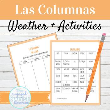 "Expresate 1 Chapter 3: ""Las Columnas"" Weather/Activites Vocabulary Organization"