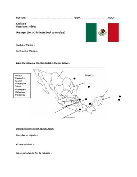 Expresate 1 Chapter 6 Geocultura Mexico