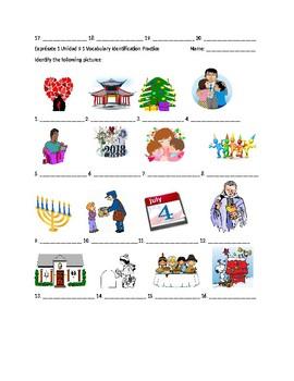 Exprésate 1 Chapter 9 Vocabulary 1 Identification Practice/Quiz