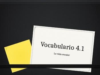 Expresate 1 La Vida Escolar Vocabulario