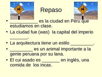 Expresate 2-Chapter 2 Cultural Lesson Cuzco, Peru