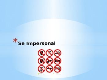 Expresate 2-Chapter 3 Grammar Impersonal SE