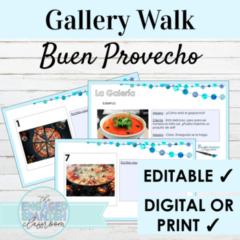 "Spanish Food ""Buen Provecho"" Gallery Walk Writing Activity"