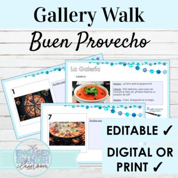 "Spanish Food ""Buen Provecho"" Gallery Walk Writing Activity"