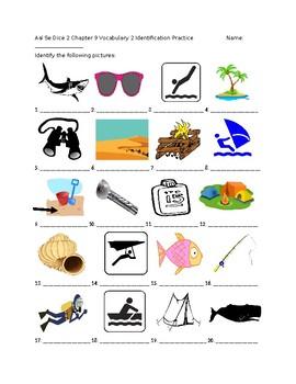 Exprésate 2 Chapter 9 Vocabulary 2 Identification Practice/Quiz
