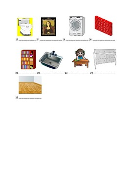 Exprésate 2 Chapter 2 Vocabulary 2 Identification Practice/Quiz