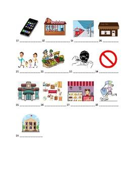 Exprésate 2 Chapter 3 Vocabulary 1 Identification Practice/Quiz