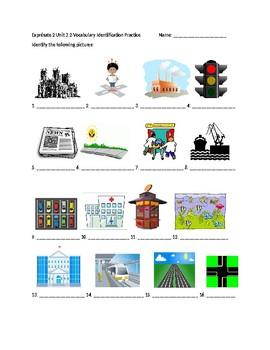 Exprésate 2 Chapter 3 Vocabulary 2 Identification Practice/Quiz