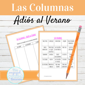 "Expresate 3 Chapter 1: ""Las Columnas"" Vocabulary Organization Activity"