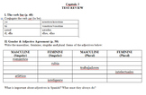 Expresate (Book 1) Ch. 2 Test Review Worksheet