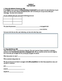 Expresate (Book 1) Ch. 7 Test Review Worksheet