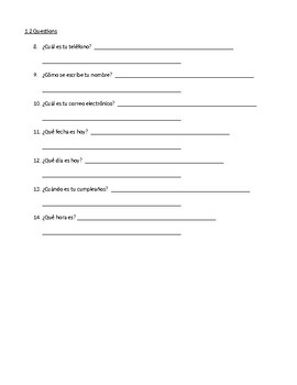 Expresate Chapter 1 Essential Questions