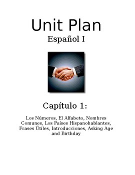 Exprésate I Spanish I lesson plans and materials - Chapter 1 ¡Empecemos!