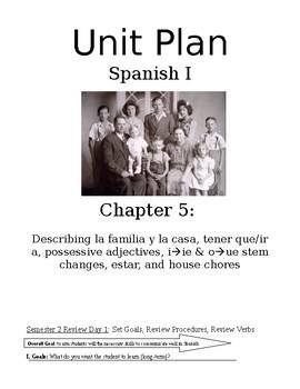 Exprésate I Spanish I lesson plans / materials – Chapter 5: En casa con familia