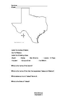 Expresate Level 1 Texas Worksheet