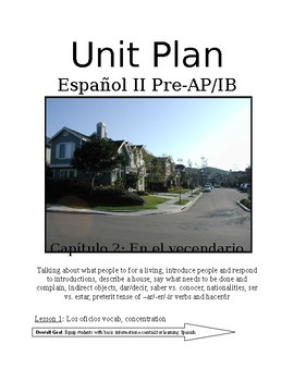 Expresate Spanish II lesson plans and materials - Chapter 2