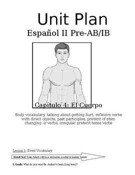 Expresate Spanish II lesson plans and materials - Chapter 4