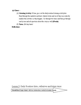 Expresate Spanish II lesson plans and materials - Chapter 5