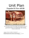 Expresate Spanish II lesson plans and materials - Chapter 6