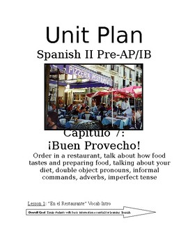 Expresate Spanish II lesson plans and materials - Chapter