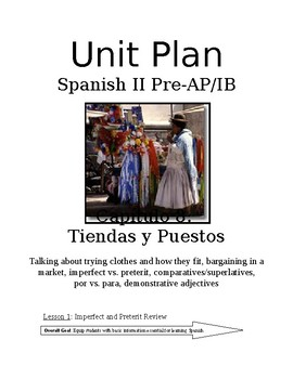 Expresate Spanish II lesson plans and materials - Chapter 8