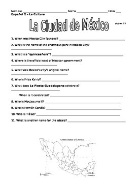 Expresate2 Chapter1 Culture Questions