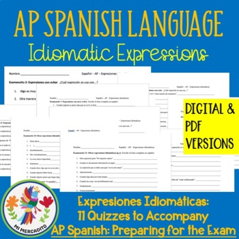 Expresiones Idiomáticas: Quizzes to Accompany AP Spanish: