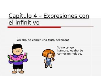 Expresiones con el infinitivo