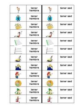 Expresiones con tener Spanish verb Dominoes