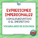 Expresiones impersonal y subjuntivo Boom Cards Tarjetas Di