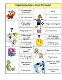 Expresiones para la clase de espanol - frases comunes