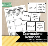Expressions Dominoes | Matching Algebraic Expressions | TEKS 6.5 | TEKS 7.5