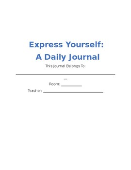 Express Yourself: A Journal for Students